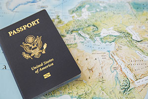 Passport and Map Image