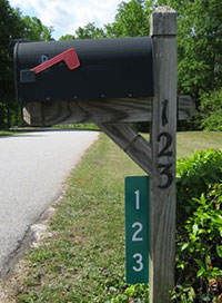 Mailbox Address Display Example Image