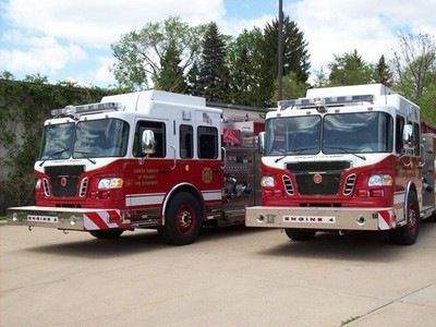 Apparatus Crimson Twins Engine 14-3 and Engine 14-4 Photo