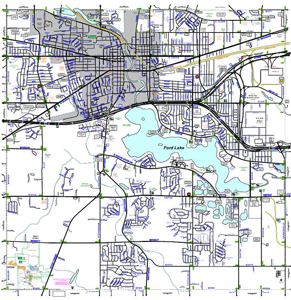 Ypsilanti Township Boundaries Map