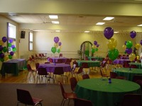 Community Center Room Decorated for a Party Photo